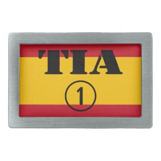 Spanish Aunts : Tia Numero Uno Rectangular Belt Buckles
