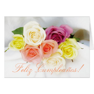 Spanish: Birthday Cumpleanos wht Card