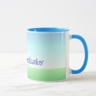 Spanish Birthday Green Blue Ringer Mug