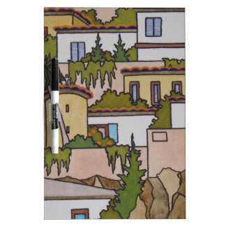 Spanish Buildings And Church Dry Erase Whiteboards