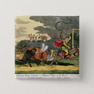 Spanish Bull Broke Lose or, Joseph's Flight 15 Cm Square Badge