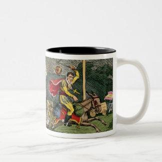 Spanish Bull Broke Lose or, Joseph's Flight Two-Tone Coffee Mug