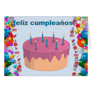 spanish birthday cards  invitations  zazzle.co.uk, Birthday card