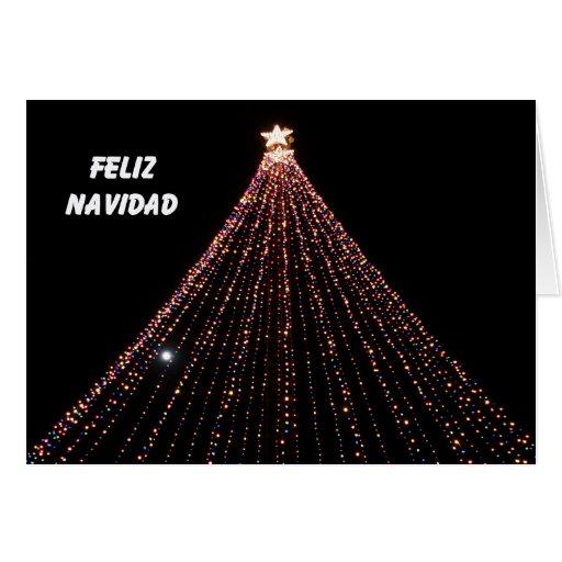 Spanish Christmas Card -- Tree of LIghts