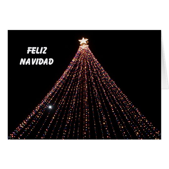 Spanish Christmas Card -- Tree of LIghts