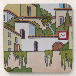 Spanish Church And Houses Coasters