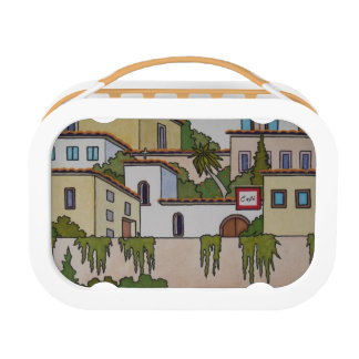 Spanish Church And Houses Lunch Box