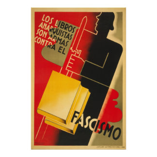 Spanish Civil War Anarchist / Facism Poster