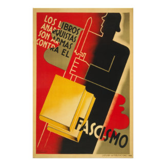 Spanish Civil War Anarchist / Facism Poster Large