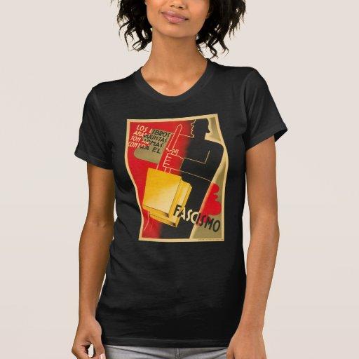 Spanish Civil War Anarchist / Facism Rare Poster Tee Shirt