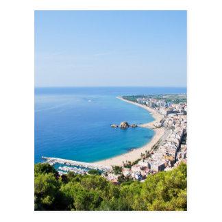 Spanish Coastline Postcard