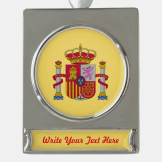 Spanish coat silver plated banner ornament