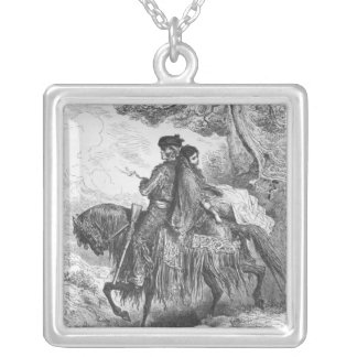 Spanish Contrabandista of Ronda and his Maja Silver Plated Necklace
