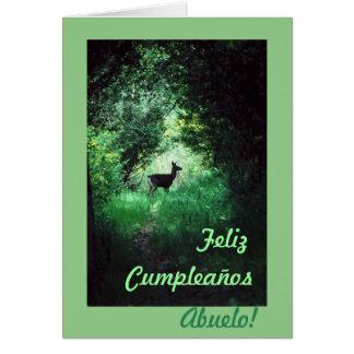 Spanish: Cumpleaños abuelo /Grandpa's b-day Greeting Card