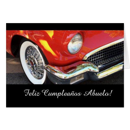 Spanish: Cumpleanos Abuelo/ grandpa's birthday Greeting Card
