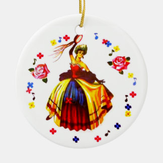 Spanish Dancer Christmas Ornament