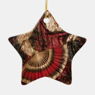 Spanish Dancer Ceramic Star Decoration