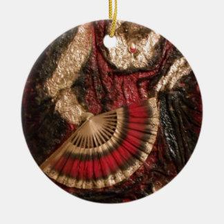 Spanish Dancer Round Ceramic Decoration