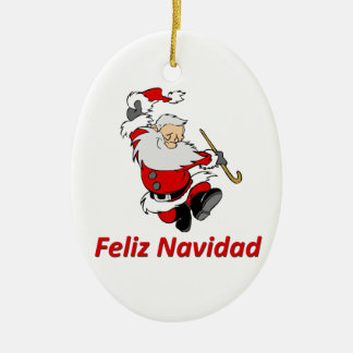 Spanish Dancing Santa Claus Christmas Ornament
