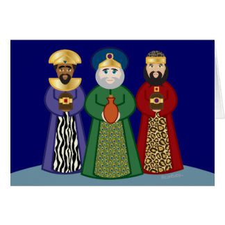spanish DIA DE REYES *three KINGS day* greeting Note Card