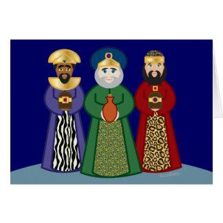 spanish DIA DE REYES *three KINGS day* greeting Note Card
