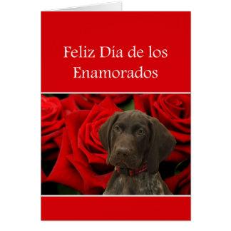 Spanish Día Enamorados Glossy Grizzly Valentine Cards