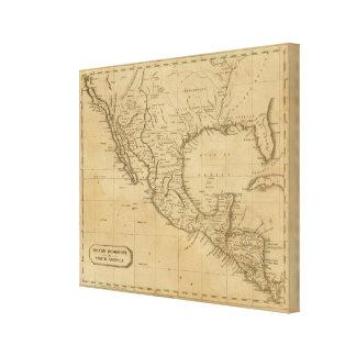 Spanish Dominions in North America Canvas Print