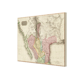 Spanish dominions in North America, northern part Canvas Print