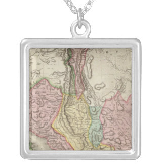 Spanish dominions in North America, northern part Silver Plated Necklace