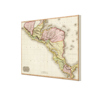 Spanish dominions in North America, southern part Canvas Print