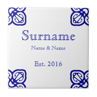 Spanish Family Name Sign Small Square Tile