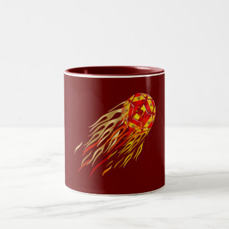 Spanish Fireball soccer futbol lovers soccer ball Two-Tone Mug