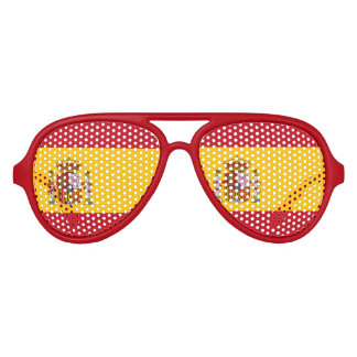 Spanish flag aviator sunglasses