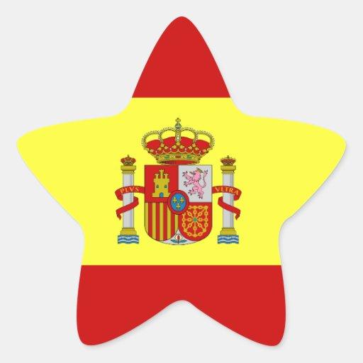 Spanish Flag Bandera Española Gifts Star Sticker