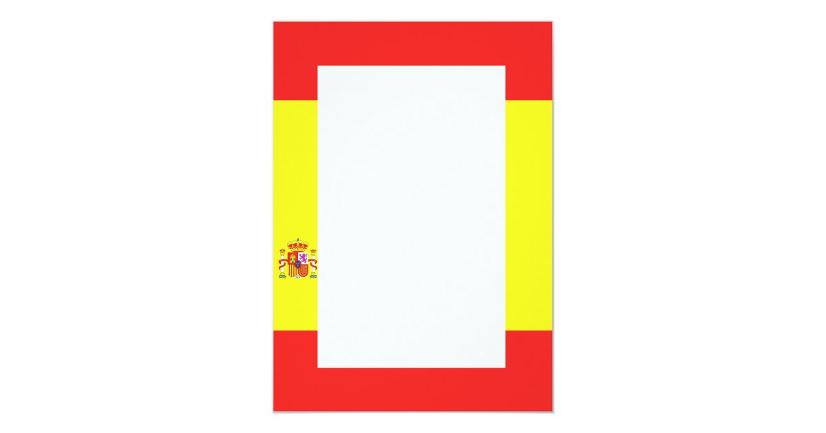 Spanish Flag Border Invitation Zazzle Co Uk