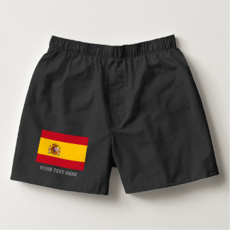 Spanish flag boxer shorts Custom underwear for men Boxers