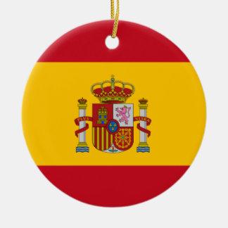 Spanish flag custom Christmas tree ornament