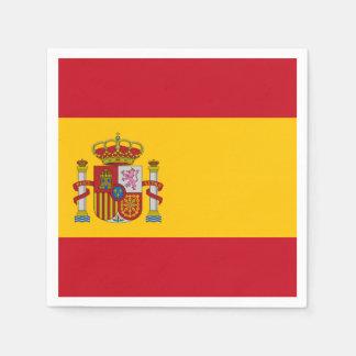 Spanish flag disposable serviette
