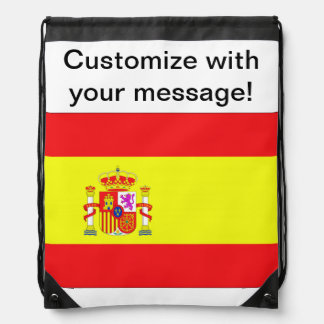 Spanish Flag Drawstring Backpacks