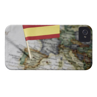 Spanish flag in map iPhone 4 Case-Mate cases
