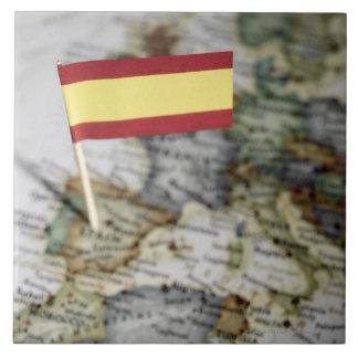 Spanish flag in map tile