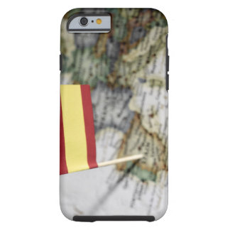 Spanish flag in map tough iPhone 6 case