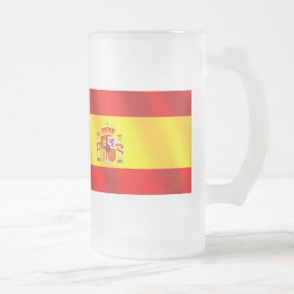 Spanish flag of Spain gifts for Spaniards Frosted Glass Mug