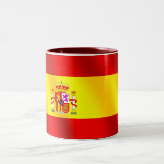Spanish flag of Spain gifts for Spaniards Two-Tone Coffee Mug