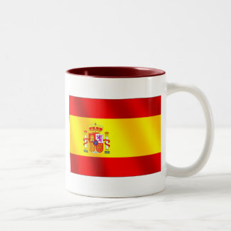 Spanish flag of Spain gifts for Spaniards Two-Tone Mug