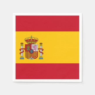 Spanish flag paper napkin