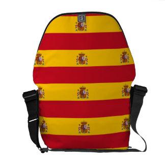 Spanish flag pattern messenger bag