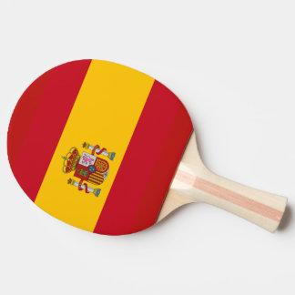 Spanish flag ping pong paddle
