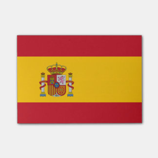 Spanish flag post-it notes