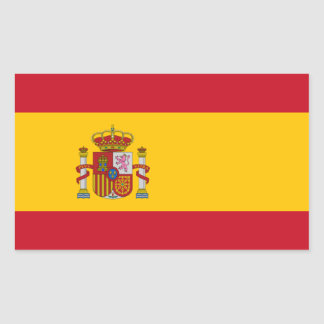 Spanish Flag Rectangular Sticker